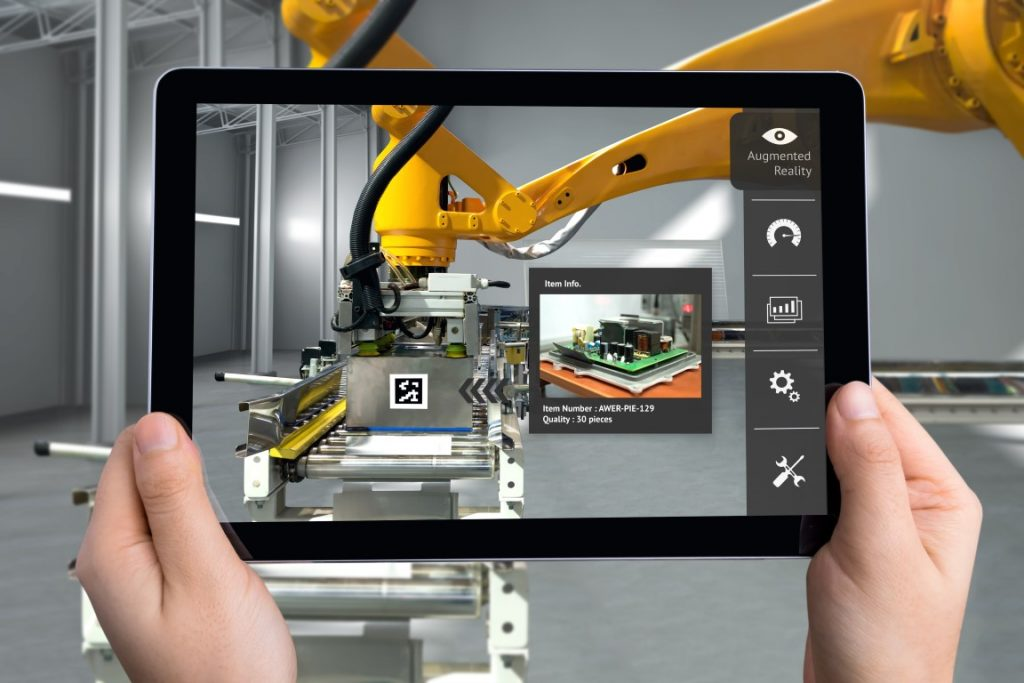 Showing AR data through a tablet