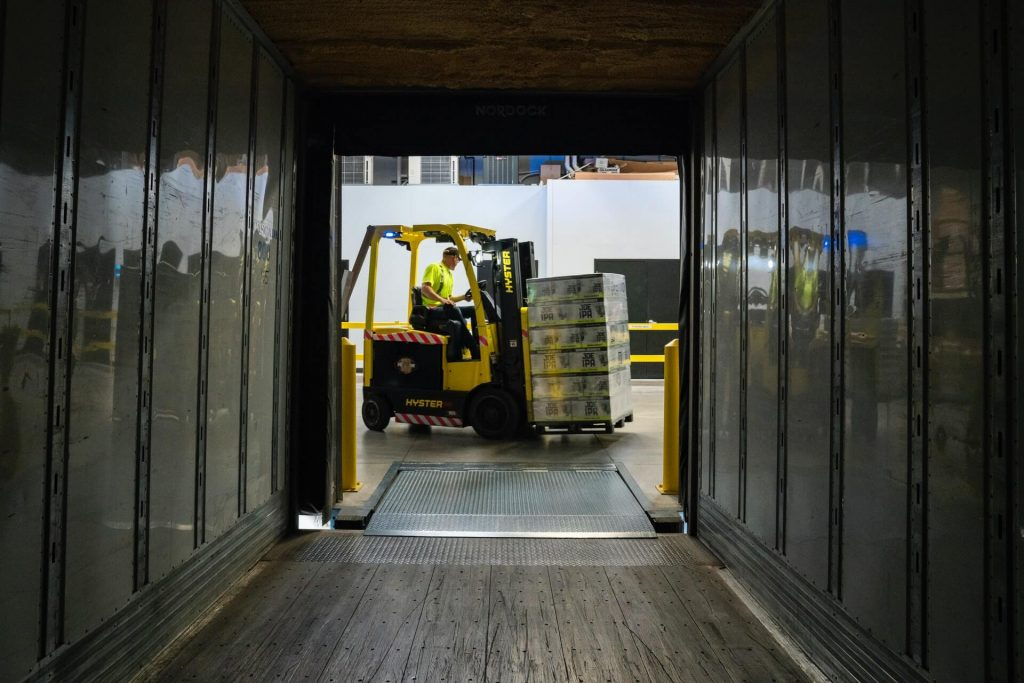 Workers often use forklifts in warehouses