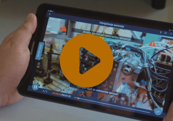 A video showing REWO on a tablet