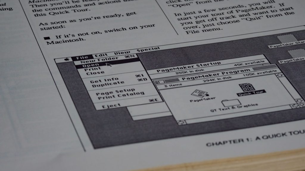 Paper-based work instruction example