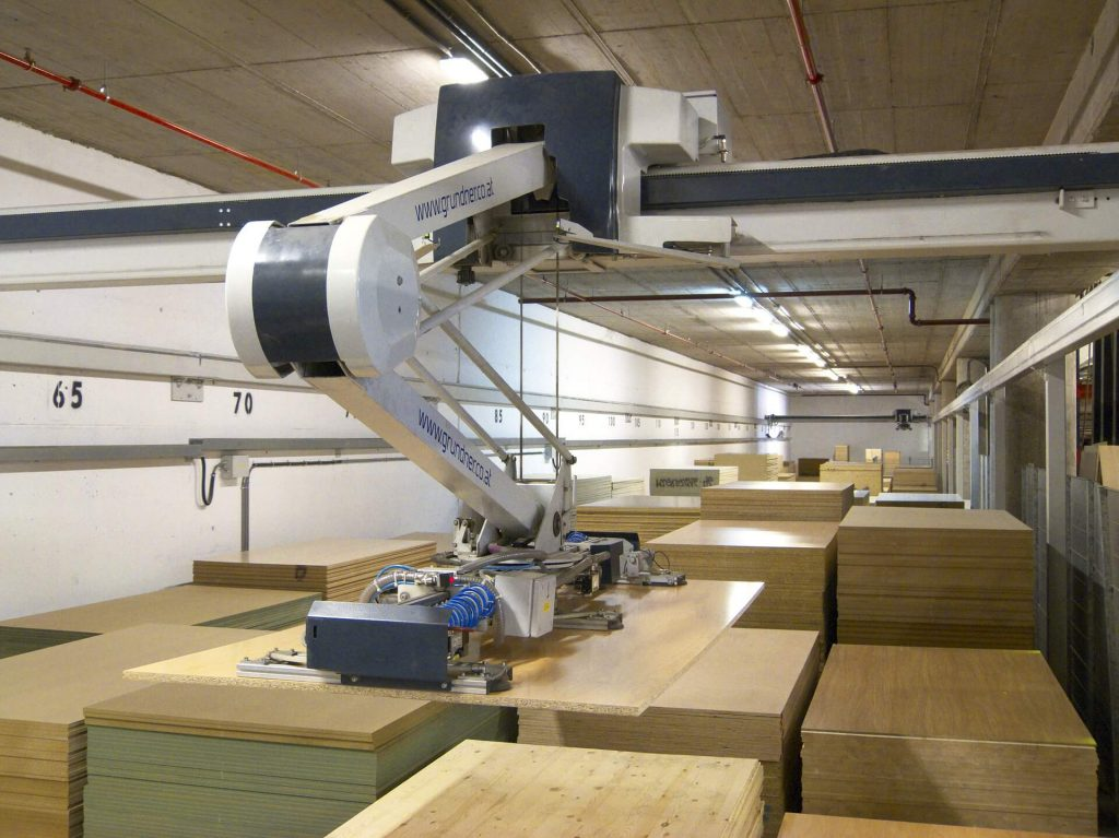 A warehouse robot that is helping with process automation
